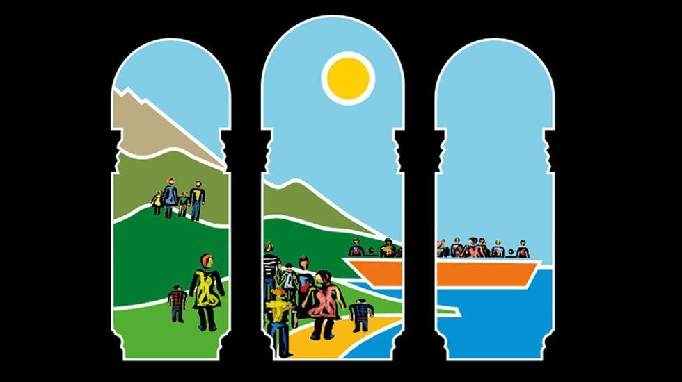 Logo de la campaña Acoger ye natural