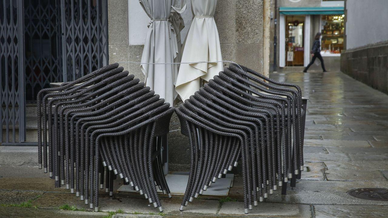 Terrazas recogidas en Santiago