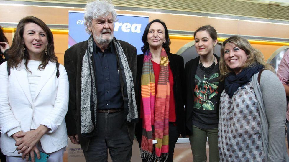 En Marea busca un frente común contra el PP.Anguita e Iglesias coincidieron en un acto celebrado la pasada semana en Córdoba