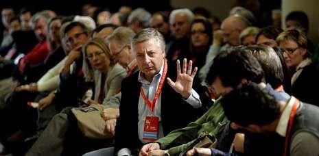 El exministro de Fomento, José Blanco, en un comité nacional del PSdeG celebrado en Santiago en noviembre del año pasado.