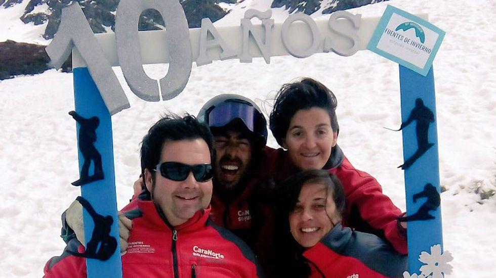 Fuentes de Invierno celebra su décimo aniversario.La estación de Fuentes de Invierno, con numerosas zonas despejadas de nieve