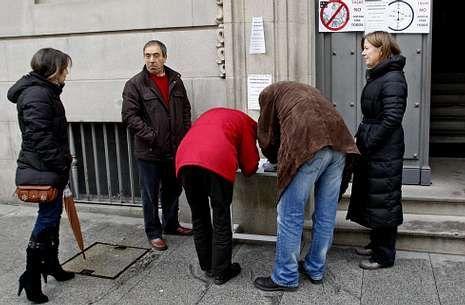 En Pontevedra hubo una recogida de firmas contra la política de tasas del Ministerio de Justicia.