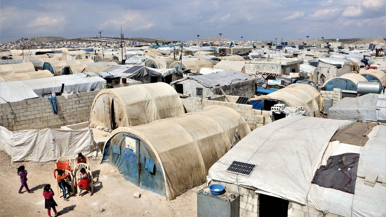 La pandemia en el mundo.Campo de desplazados internos de Deis Hasán, norte de Siria
