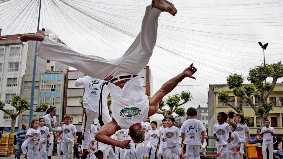 Exhibición de capoeira en Carballo