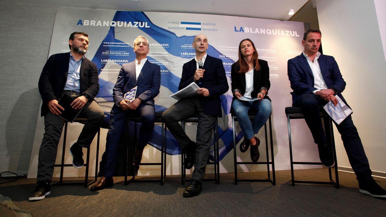 Colas para renovar los abonos del Deportivo. Presentación en Oviedo del Tour Universo Mujer