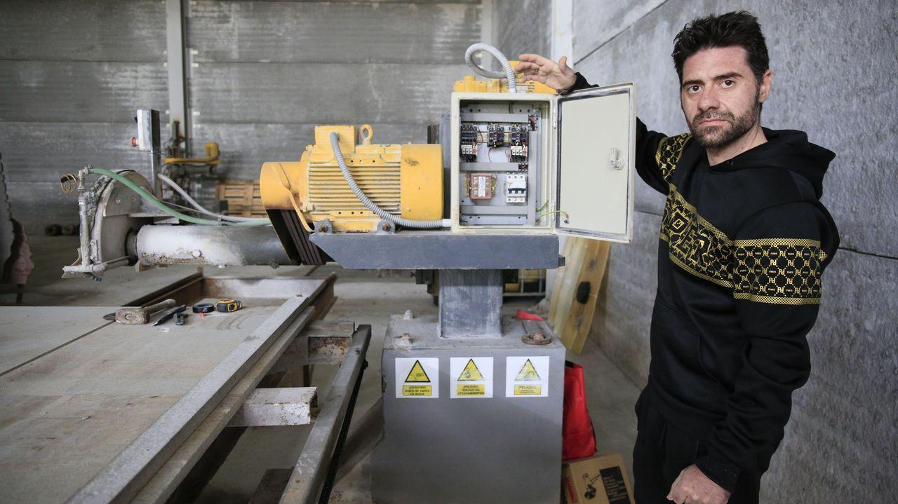 Entrega dos Hortos do Paseo do Rato.Francisco Soto ya tiene apunto la maquinaria y el mármol, a la espera de tener luz
