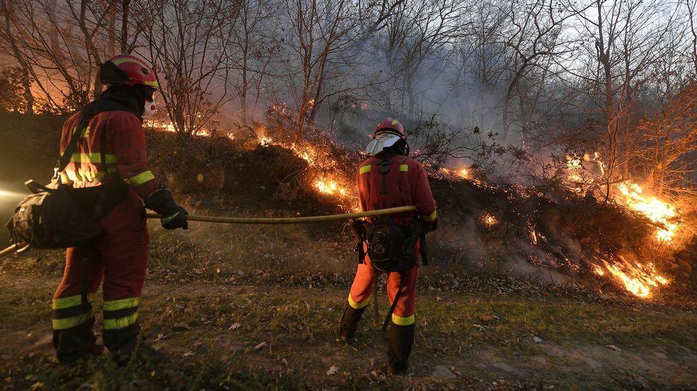 Unos 150 militares participan en las labores de extinciín de los incendios en Cantabria.