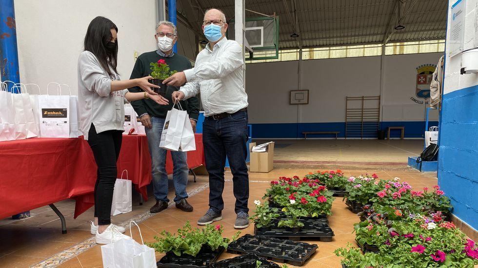 El Concello de O Barco regaló plantas para que los vecinos llenen de flores los balcones y las terrazas del Camiño de Inverno