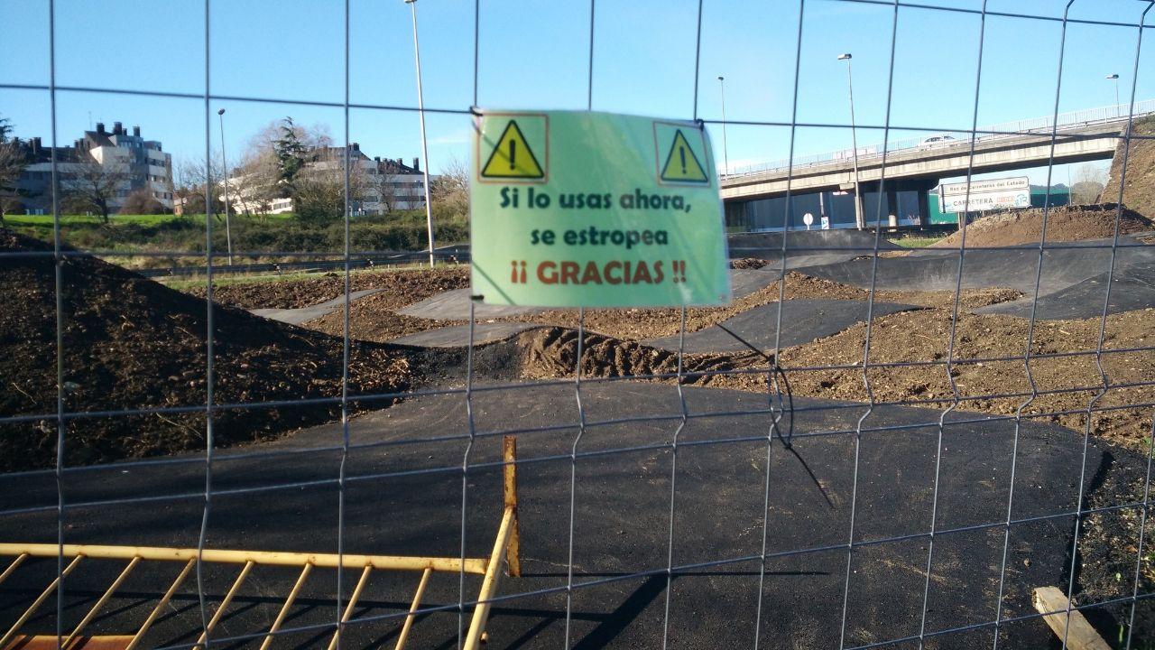 Los vecinos piden que no se utilice el circuito de pump track mientras siga en obras
