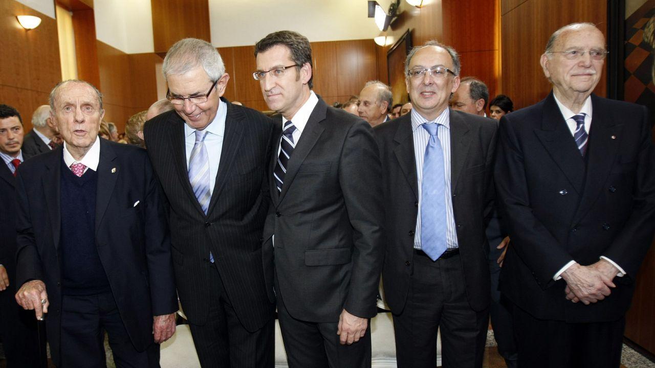 Os cinco presidentes da Xunta desde as primeiras eleccións en 1981