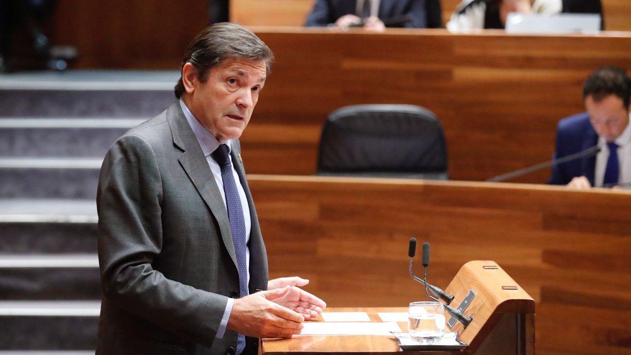 La política y la sociedad asturiana se vuelcan en el adiós a Álvarez Areces.Javier Fernández
