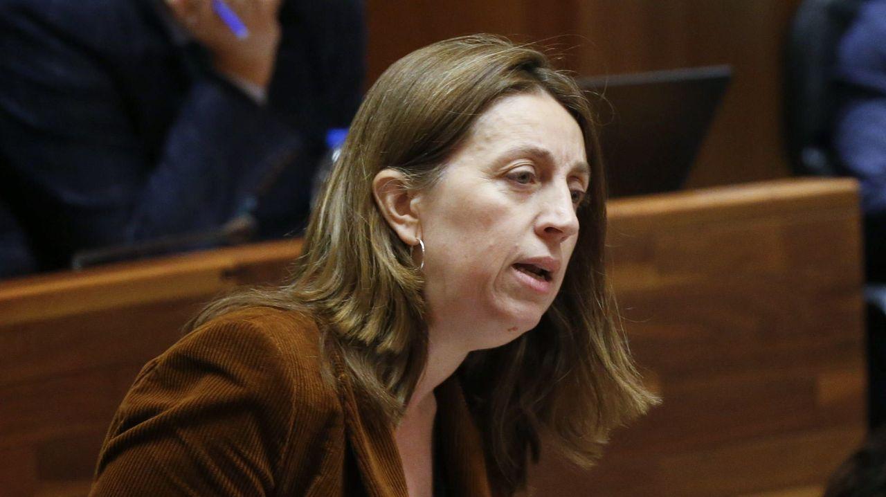 La portavoz de Podemos, Lorena Gil,