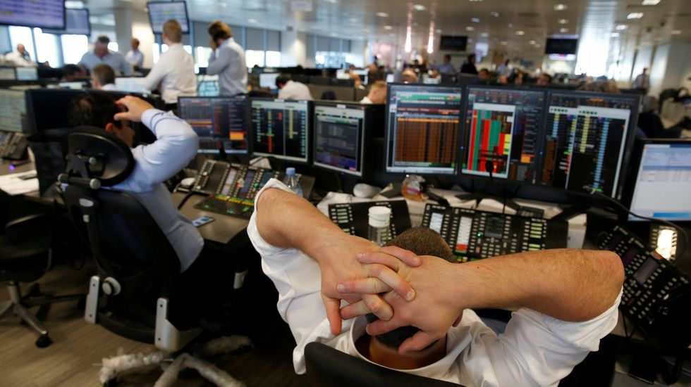La reacción de los analistas en el centro financiero Canary Wharf, en Londres