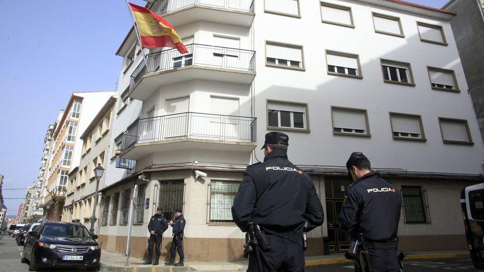 La agresión fue denunciada a finales del 2017 en la comisaría de Monforte (en la imagen)