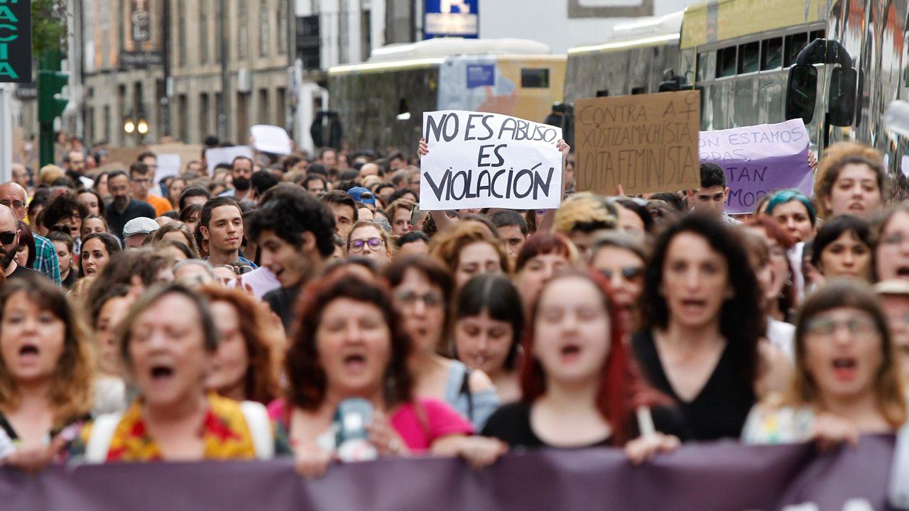 La Manada: el caso que conmocionó a la sociedad española.Alfonso Jesús Cabezuelo, uno de los miembros de la Manada, a su llegada el juzgado de guardia de Sevilla