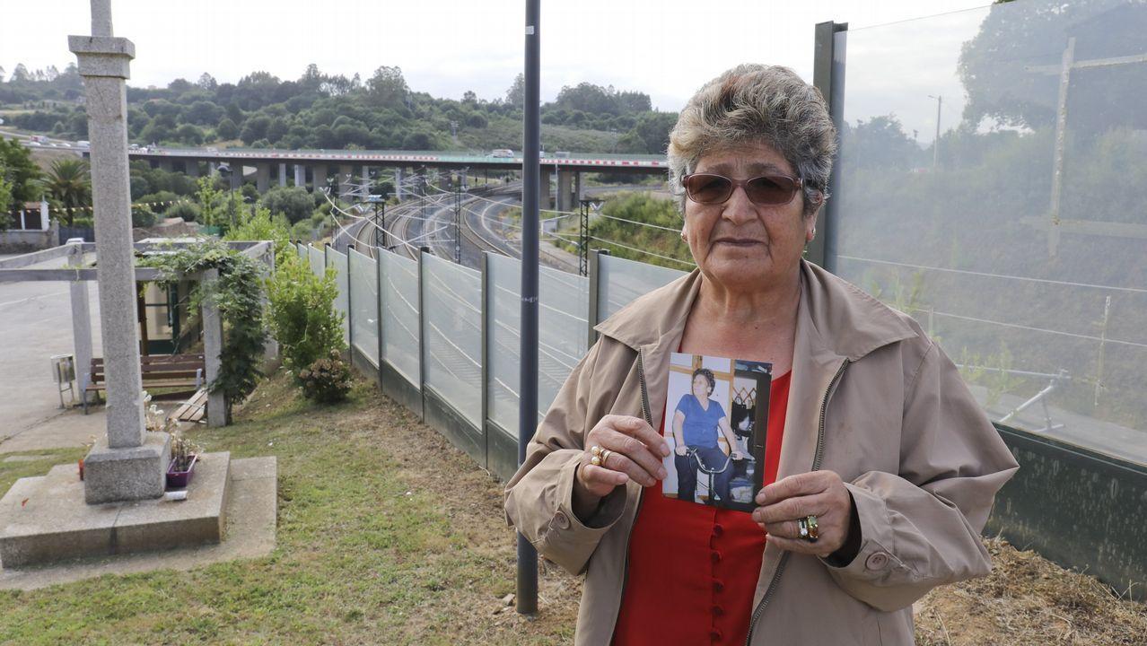 Llegada de la manifestación de las víctimasde Angrois al Obradoiro