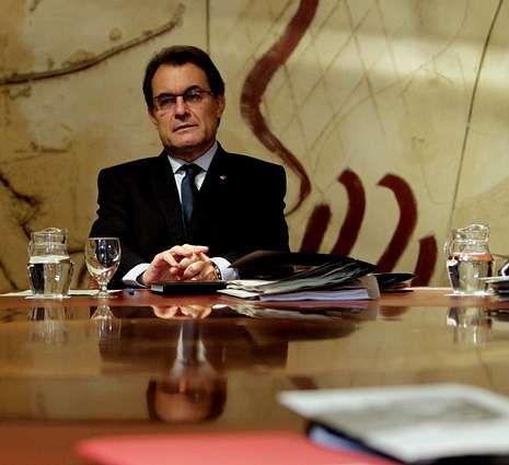Mas, en la reunión semanal del Ejecutivo catalán.