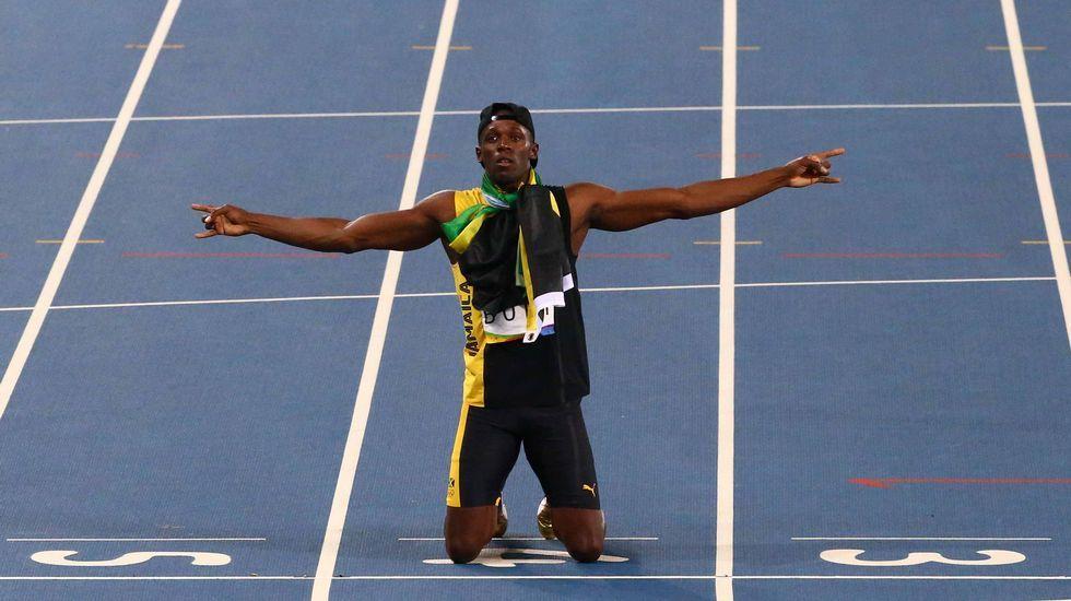 La gesta histórica de Usain Bolt, en imágenes.Isaquias, a la derecha, junto a Erlon de Souza en el podio.