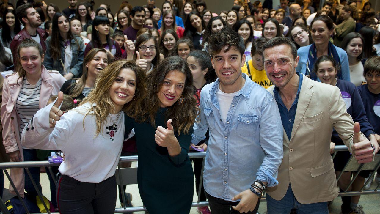 Fiebre adolescente por «OT».Concierto de OT en Gijón