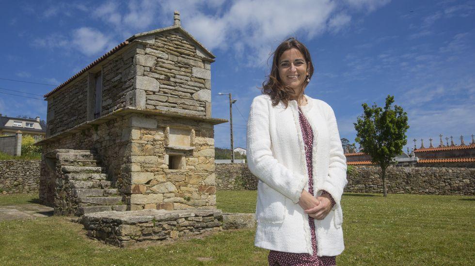 Inés Santé, durante a súa participación no Foro Voz sobre hórreos, en O Couto