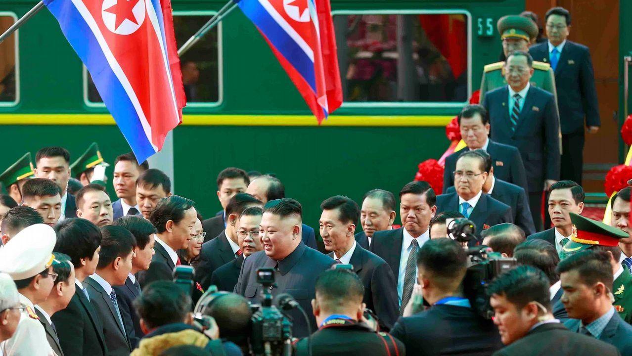 Kim llegó a Hanói tras recorrer 4.000 kilómetros a bordo de su tren blindado y se hospeda en un Meliá