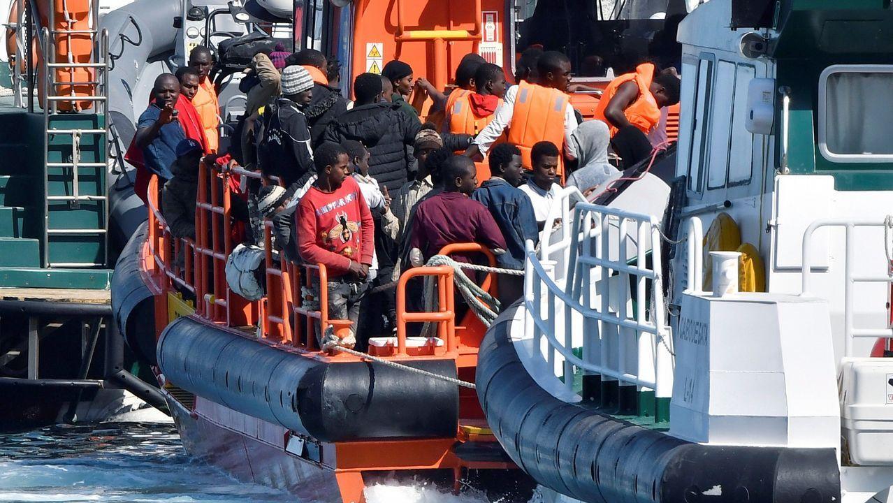 Valencia recibe a los inmigrantes del Aquarius.Inmigrantes en Texas