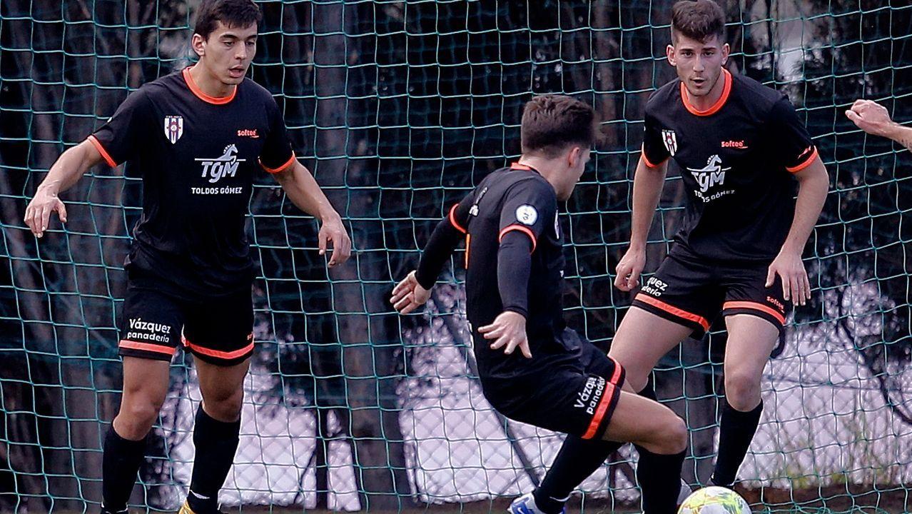 GALERIA | El Dépor empata sin goles con el Bergantiños.Granero despeja en el amistoso contra el Pontevedra