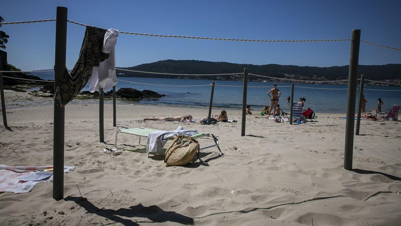 Playa de Boa, en Noia, dividida en parcelas