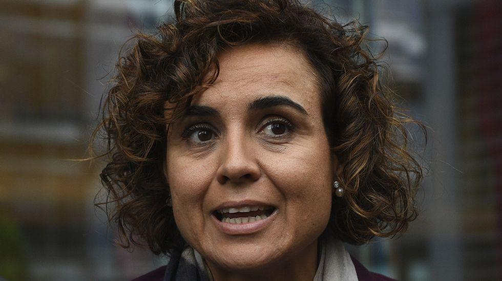 Barcelona acoge una gran marcha unionista.La ministra de Sanidad, Dolors Montserrat, durante la presentación de Barcelona para albergar la sede de la Agencia Europea del Medicamento.