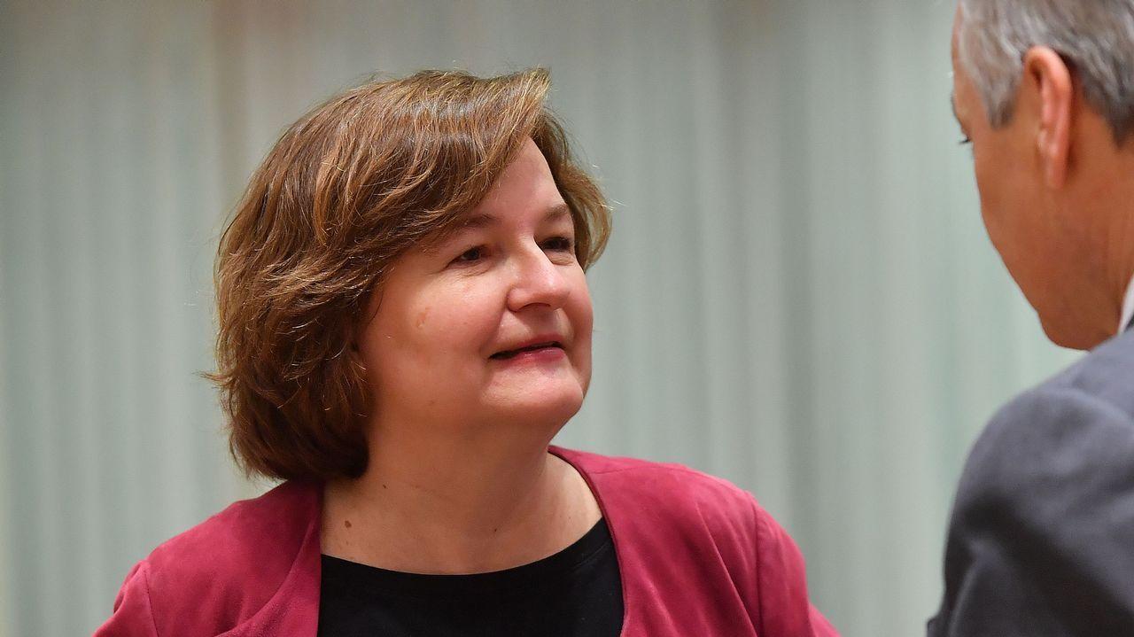 La ministra francesa de Asuntos Europeos, Nathalie Loiseau, en la reunión de ayer en Bruselas