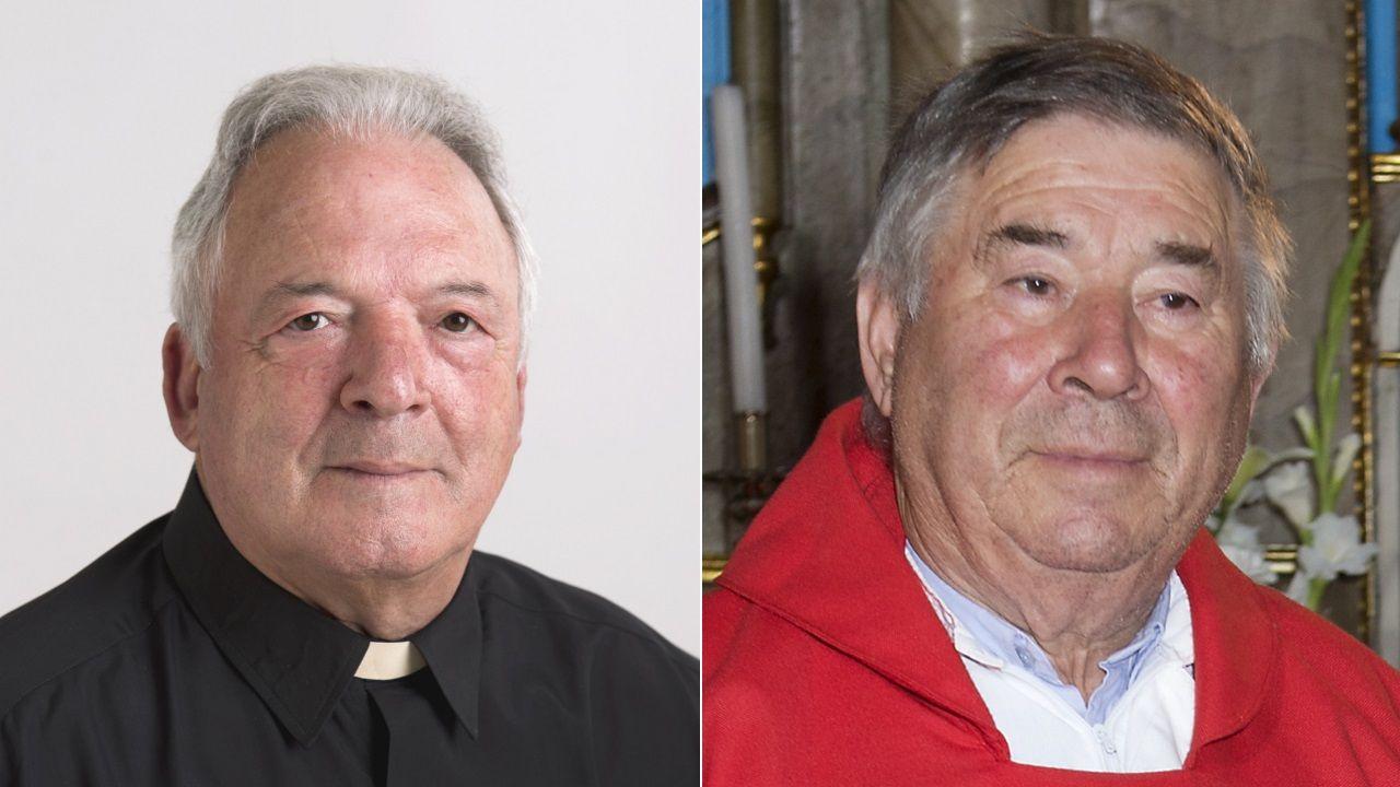 Jesús Rial (izquierda) y Ricardo Cutrín (derecha) se ordernaron el mismo día en la Catedral de Santiago