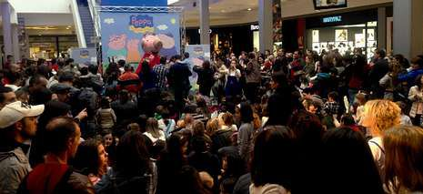 La cerdita televisiva Peppa Pig atrajo a numeroso público