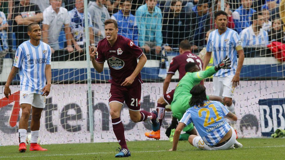 El Málaga-Deportivo en fotos