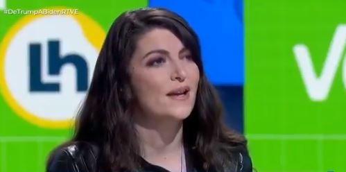 Macarena Olona, esta mañana en la entrevista en TVE