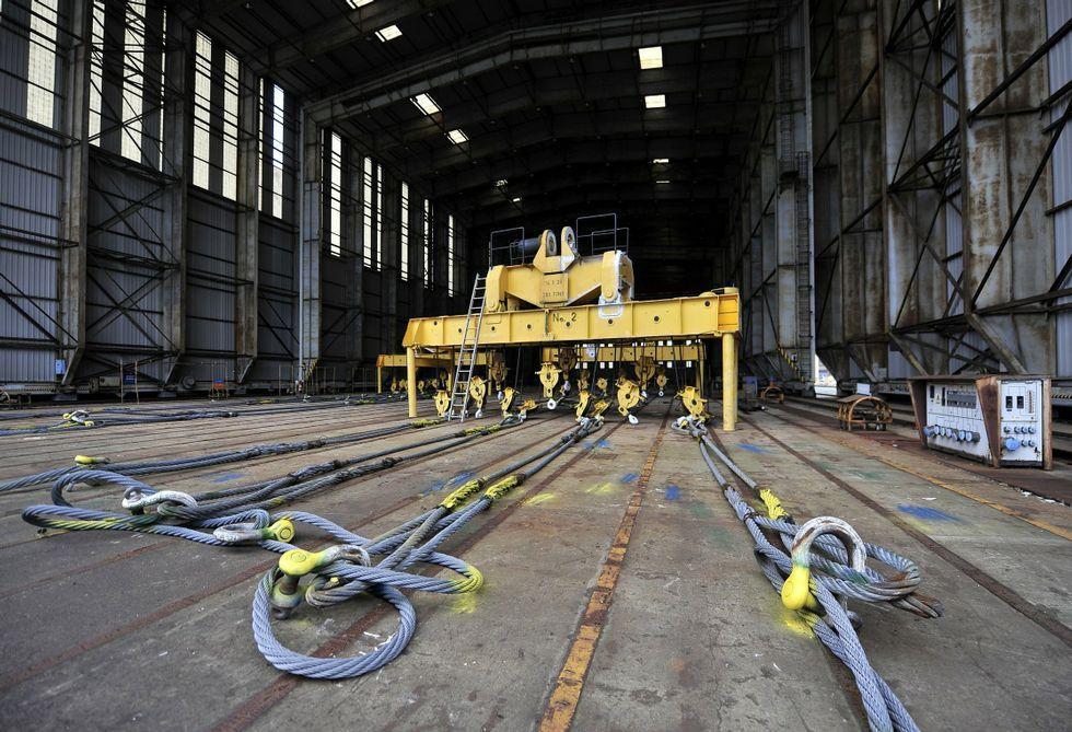 La ceremonia de cortado de la primera plancha de acero se celebró el pasado diciembre.
