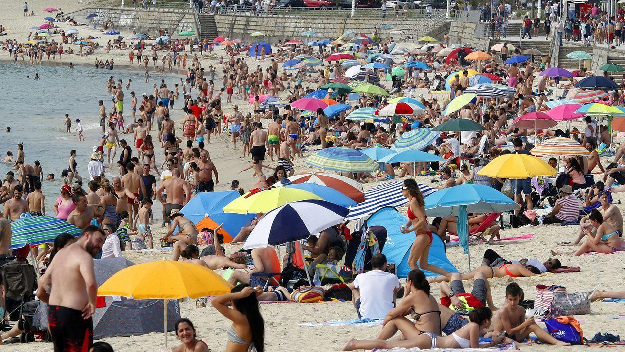 Playa de Samil, en Vigo