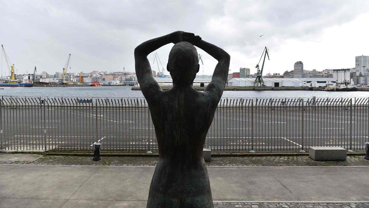 Las imágenes de la cumbre sobre el futuro del puerto de A Coruña.Vista puerto zona San Diego Coruña