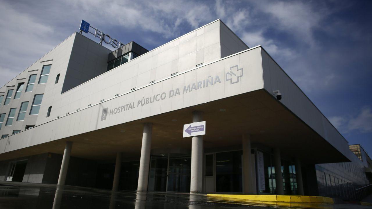 Estes lunes por la tarde había un paciente ingresado por covid en el hospital mariñano
