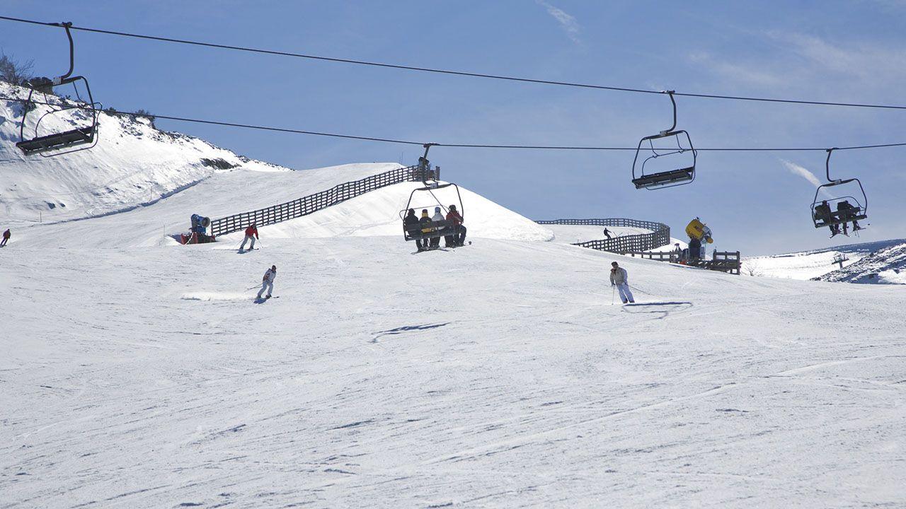 Un cámping asturiano.Estación de esquí Valgrande-Pajares