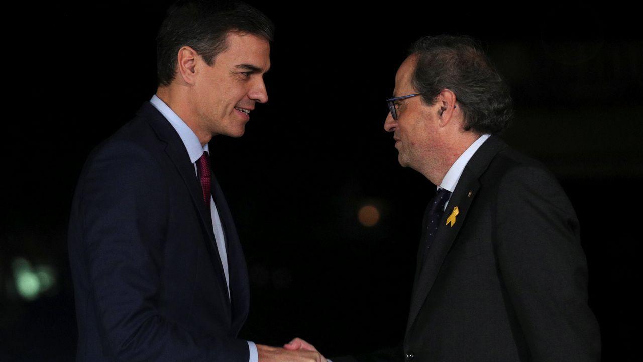 «¡La república no existe, idiota!».Sánchez y Torra se reunieron más de una hora por separado y después se sumaron, durante diez minutos, al encuentro de Batet y Calvo con los consellers Aragonès y Artadi