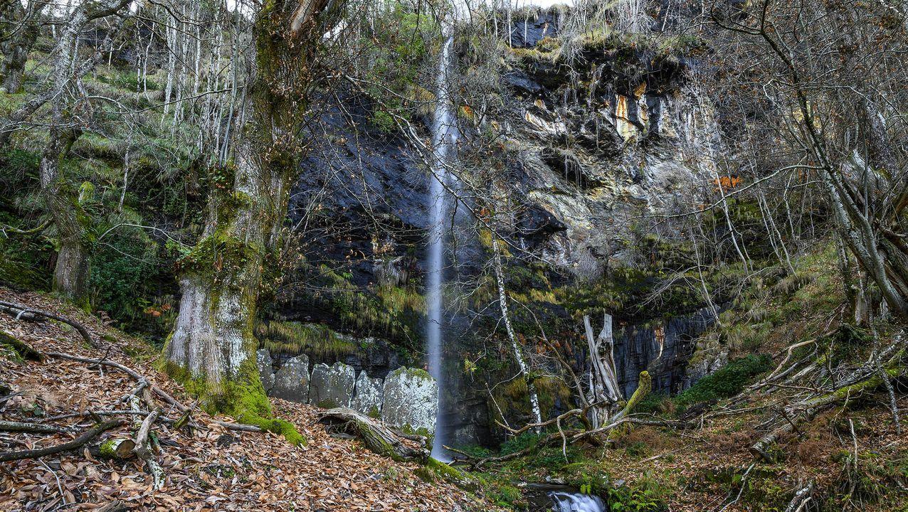 Otra vista de la cascada del arroyo de A Fervenza