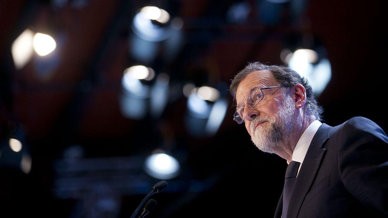 Aspirantes a dirigir los puestos más relevantes de la UE.El expresidente del Gobiern Mariano Rajoy, ayer, en Tenerife