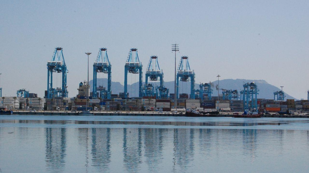Bahía del puerto de Algeciras.