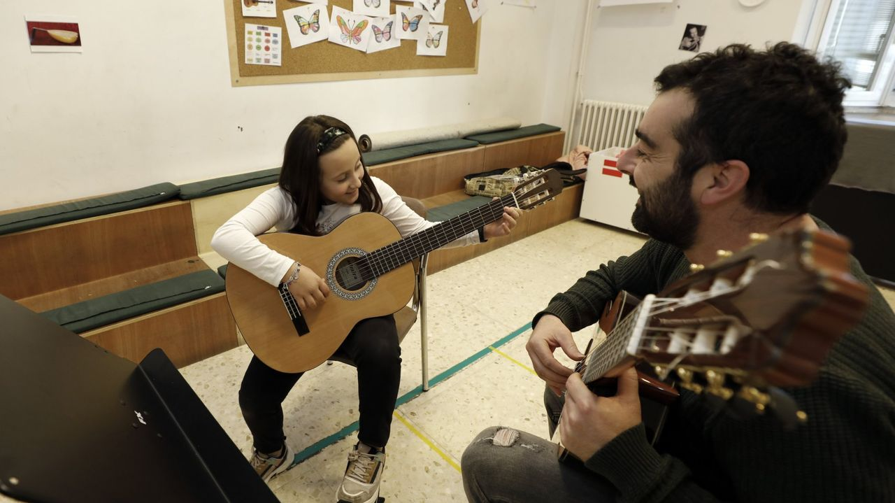 Imagen de archivo de febrero de 2020 de una clase de la Escola de Música de Foz