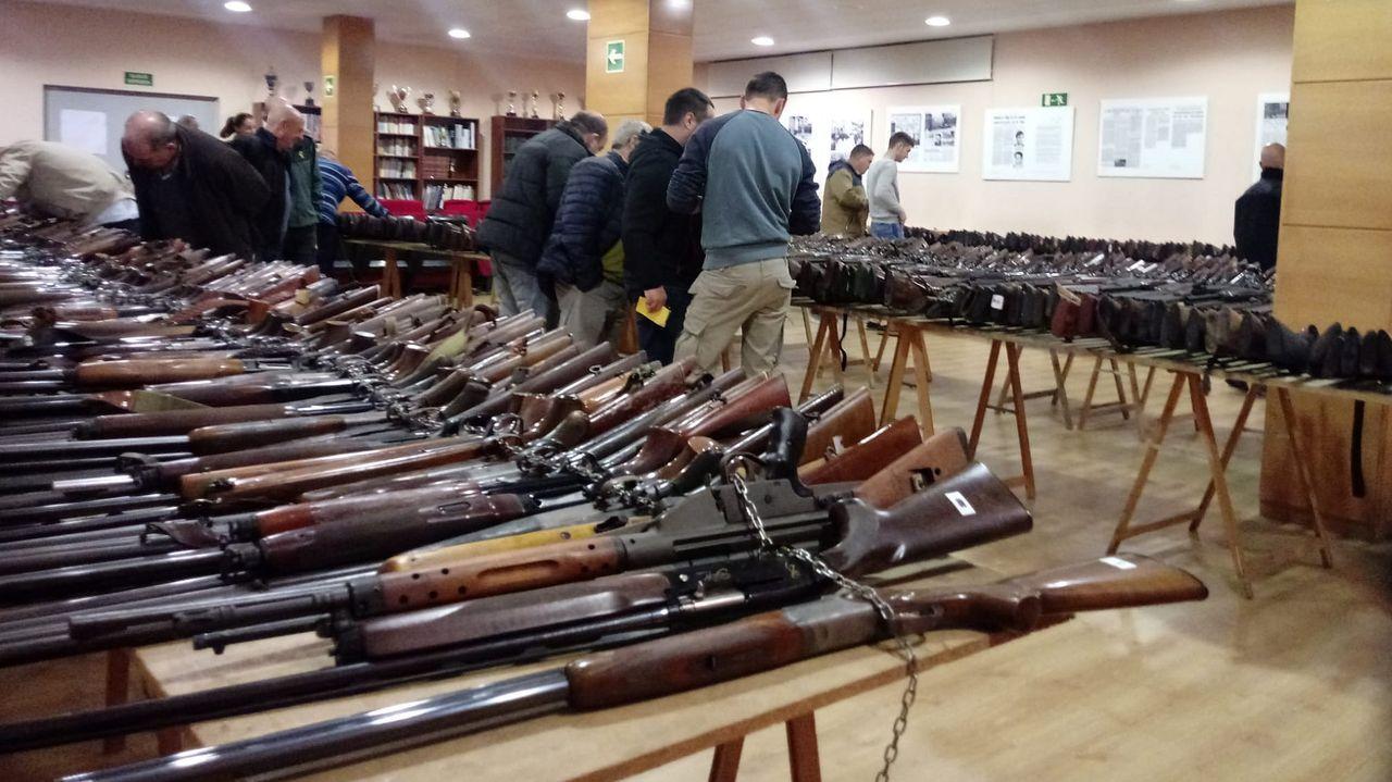 Las imágenes que ha ido dejando el juicio por el crimen de Diana Quer.El arsenal está compuesto por 853 unidades expuestas en A Coruña