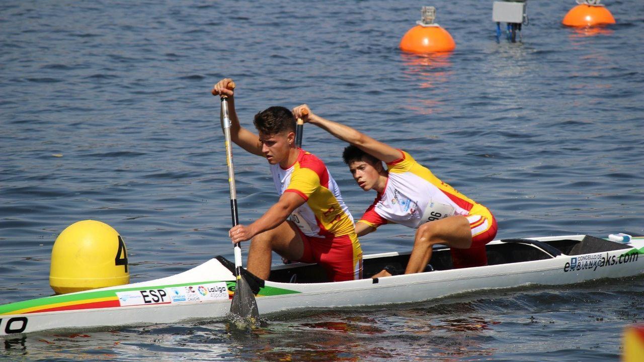 Javier Ordóñez e Iago Romero, en el europeo de maratón del 2019