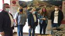 Un momento da inauguración da exposición este venres en Folgoso
