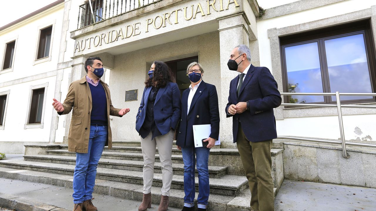muelle.Luisa Piñeiro, en la rueda de prensa en la que presentó su dimisión, el pasado viernes