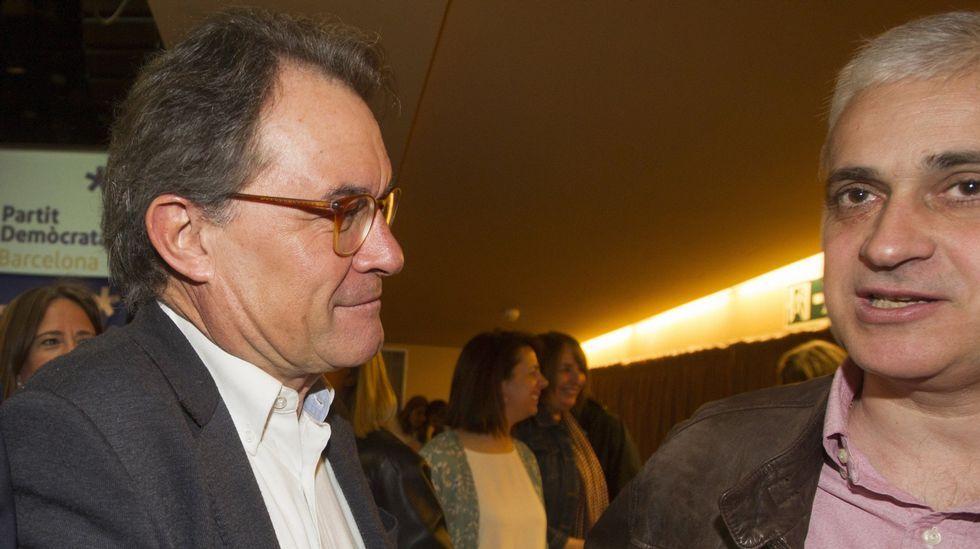 El expresidente de la Generalitat, Artur Mas, y el exconseller de Justicia, Germà Gordó