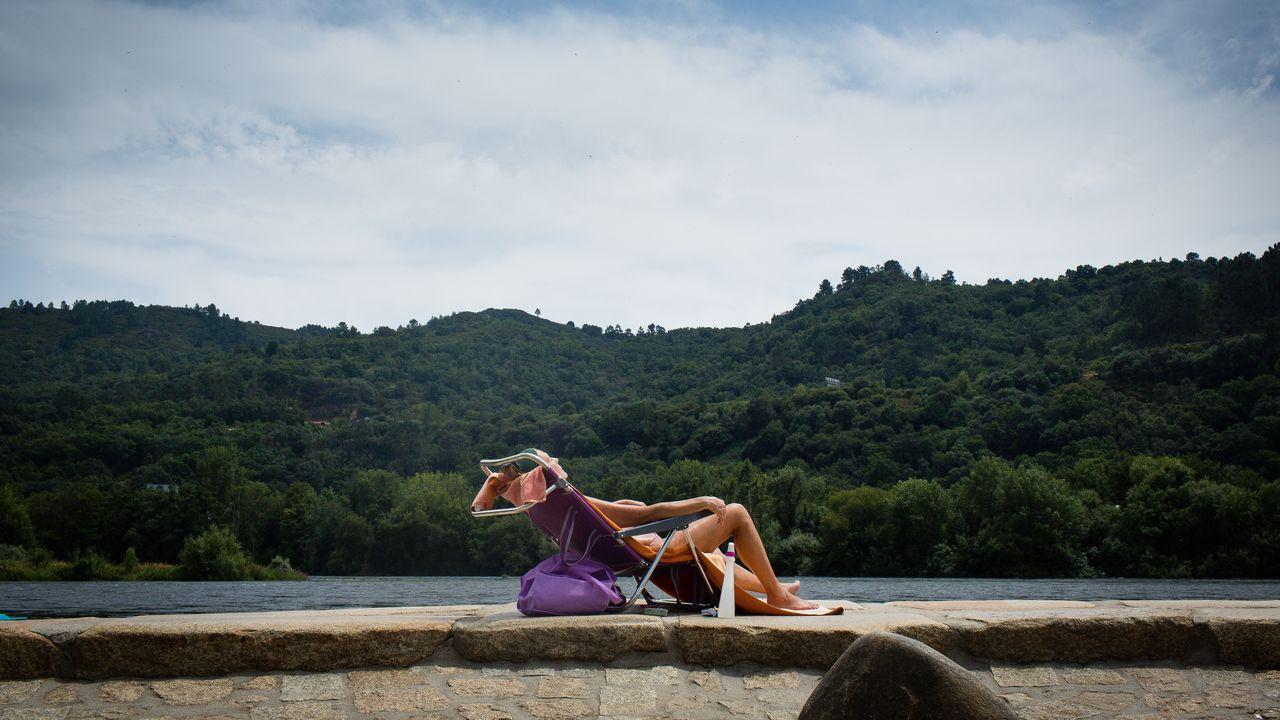 El calor aprieta en Ourense